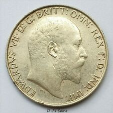 More details for 1908 king edward vll silver florin 2 shilling coin, high grade with good detail.