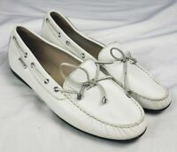 Mephisto Womens Sz 11 Loafer Driving Moccasins Leather Boat Shoes White Cool Air