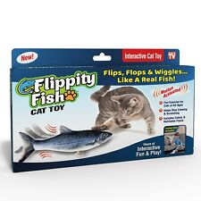 New listing Flippity Fish Cat Toy Exercise for Cats Helps Stop Clawing & Scratching