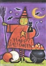 Happy Halloween Witch  Large House Flag - 2 Sided by Carson Flag Trends