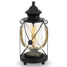 Lumetto vintage lanterna nero con vetro trasparente a 1 luce GLO 49283 Bradford