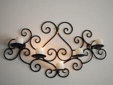 Elegant HandMade Iron French Scrolls Candle Sconce Holder Wall Decor Black