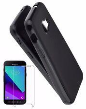Samsung Galaxy Xcover 4 Hülle Silikon Tasche Dark Case Schutz Panzer Folie Glas