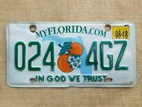 American number licence plate Florida vintage old car genuine embossed USA /2