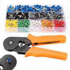 Crimp Tool Kit Ferrule Crimper Plier Stripper+800 pcs Connector Wire Terminal