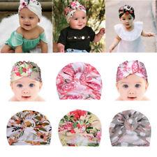 Infant Baby Floral Print Turban Hat Cap Beanie Knot Headband Newborn Head Wrap
