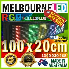 1m LED FULL COLOUR SIGN 39.4 x 7.9 inch RGB 1-2 Lines Text Window Display