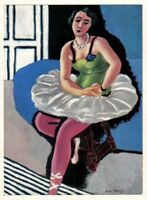 MATISSE SIGNED 1935 LITHO PRINT w/COA. £ EXCLUSIVE Henri Matisse Dancer RARE ART