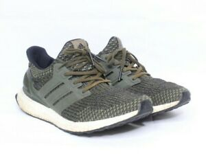 Adidas Mens Ultra Boost 3.0 LTD BA7748 Trace Cargo Green Sneakers Shoes Size 9.5