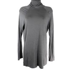 Worthington Gray Long Sleeve Turtleneck Shirt Women's Size Medium