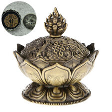Lotus Incense Smoke Cone Aroma Burner Holder Stove Backflow Censer Decor