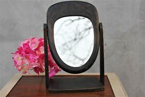 Antique Adjustable Boudoir or Dressing Table Mirror French Vanity Mirror Wood Ov