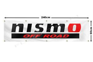 NISMO Flag Banner 2x8ft Nissan Motorsport Car Racing Flag Wall Decor Garage