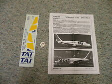 Flightpath decals 1/100 FP10-45 TAT Europeean 737-200    N16