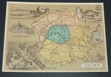 CHROMO BON-POINT HACHETTE 1885 FRANCE SEINE PARIS VINCENNES ST-DENIS LONGCHAMPS
