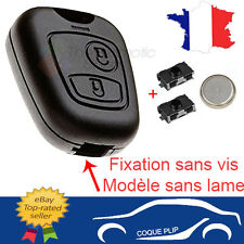 Coque Clé Plip CITROEN Saxo Picasso Xsara Berlingo + 2 Switch Bouton + Pile