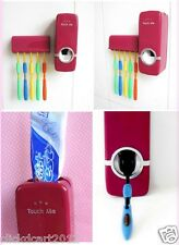 Touch Me Toothpaste Dispenser With Brush Holder