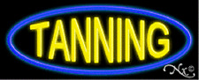 "BRAND NEW ""TANNING"" 32x13 BORDER REAL NEON SIGN w/CUSTOM OPTIONS 10637"