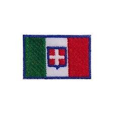 [Patch] ITALIA CON STEMMA SABAUDO cm 4,5 x 3 toppa ricamata ricamo SAVOIA -177