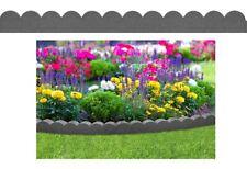 Grey Scallop Eco Friendly Recycled Flexi Rubber Garden Border Edging 1.2M x 10cm