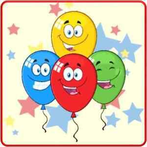 30 Custom Balloon Celebration Art Personalized Address Labels