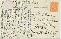 """GB """"TINTAGEL / CORNWALL"""" rare double ring almost complete on superb postcard"""