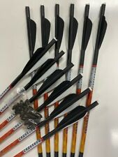 """PSE FANG  20"""" Premium .001  Crossbow Bolts by Bear 1 DZ HALF MOON NOW 40% OFF !!"""