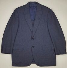 Oxxford Clothes Blazer 42R Blue Checked Geometric 2 Button Wool Vented Ultimo Sz