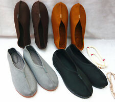 Unisex Buddhist Monk Wudang Kung Fu Shoes Shaolin Tai Chi Oxfords Loafers yh00