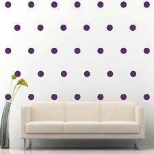 """200 of 2"""" Purple Polka Dots Circle Peel Stick Removable Wall Vinyl Decal Sticker"""
