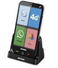BRONDI AMICO SMARTPHONE 4G NERO CELLULARE PER ANZIANI GSM DUAL SIM TASTI GRANDI