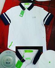 New HUGO BOSS Polo Shirt Men Custom Fit Mesh Knit Short Sleeve Casual new Size M