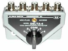 Alpha Delta 4B - 4 Position HD  Coax Antenna Switch, UHF SO-239 w/ surge