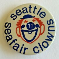 Seattle Seafair Clowns (77) Vintage Pinback Button