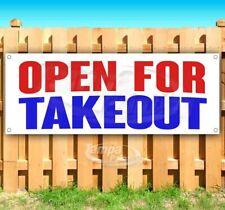 Open For Takeout Advertising Vinyl Banner Flag Sign Many Sizes Virus Restaurant