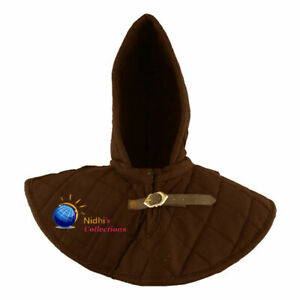 Medieval Gambeson Hood W Collar Armour Thick Padded SCA LARP