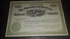 1800's the Syracuse and Chenango Railroad Co.  blank stock certificate