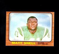 6682* 1966 Topps # 102 Matt Snell NM-MT
