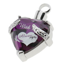 Stainless Steel Heart Memorial Ashes Keepsake Urn Pendant Cremation Jewelry