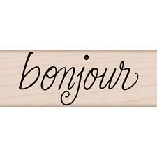 HERO ARTS RUBBER STAMPS BONJOUR NEW STAMP