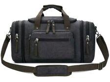 Toupons 20.8'' Large Canvas Travel Tote Luggage Men's Weekender Duffle Bag (Blac