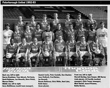 PETERBOROUGH UNITED FOOTBALL TEAM PHOTO>1992-93 SEASON