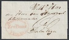 Netherland Indies folded cover ZEEBRIEF PADANG to Salatiga