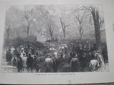 Inauguración de la estatua de Walter Scott Central Park New York EE. UU. impresión de mi ref 1872 S