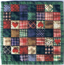 Miniature COUNTRY PATCH Dollhouse Mini QUILT #6024 Great for OOAK Sculpt Doll