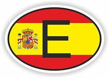 E Spain Country Code Oval With Spanish Flag Sticker bumper decal car helmet