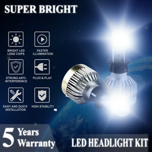 LED Headlight Bulbs Car H3 Fog Driving Light Conversion Kit 1800W 250000lm 6000K