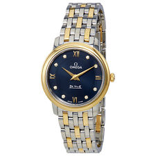 Omega De Ville Prestige Blue Dial Two-tone Ladies Watch 424.20.27.60.53.002