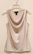 White House Black Market Women's Sleeveless Cowl Neck Top Shimmer Size Small