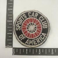Vtg Embroidered Twill SCCA SPORTS CAR CLUB OF AMERICA Sports Car Patch 091E